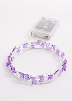 Purple Butterflies LED Gem String Lights