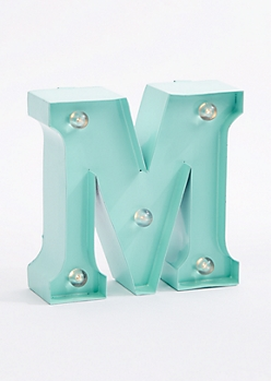 M Light Up Marquee Letter