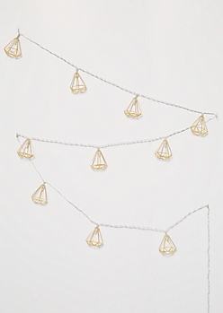 Golden Metal Geo Frame String Lights