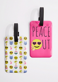 2-Pack Peace Out Luggage Tag Set