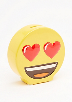 Lovestruck Emoji Coin Bank