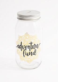 Adventure Fund Mason Jar Bank