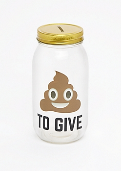 Poo To Give Mason Jar Bank