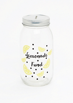 Lemonade Fund Mason Jar Bank