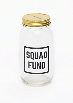 Squad Fund Mason Jar Bank
