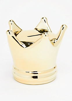 Metallic Crown Coin Bank