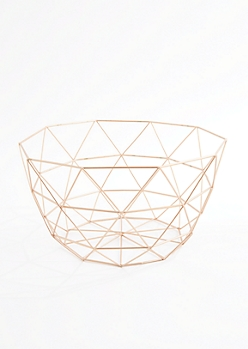 Geo Metal Wire Basket