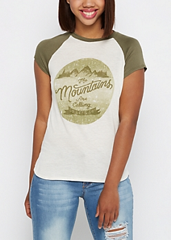 Mountains Are Calling Tee By Sadie Robertson x Wild Blue™
