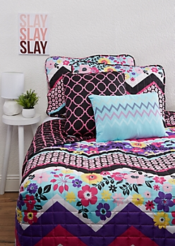 Full/Queen - Avila 5-Piece Quilt Set