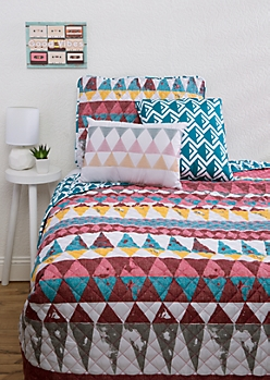 Twin XL - Geo Aztec 4-Piece Quilt Set