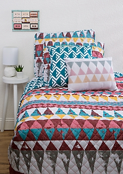 Full/Queen - Geo Aztec 5-Piece Quilt Set