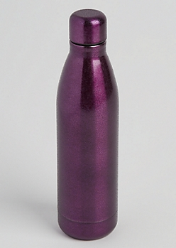 Purple Glittering Insulated Water Bottle