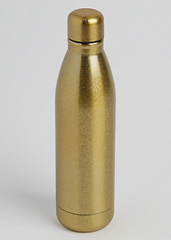 Gold Glittering Insulated Water Bottle