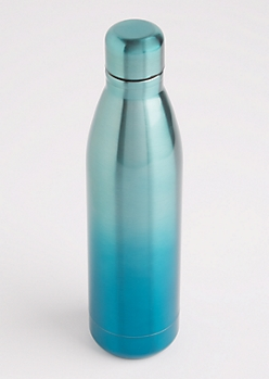 Mint Ombre Metallic Insulated Water Bottle