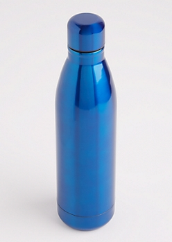 Blue Metallic Insulated Water Bottle