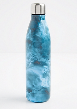 Blue Marbled Insulated Water Bottle
