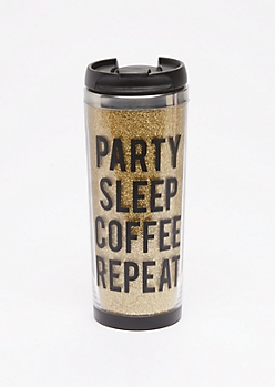 Party Sleep Coffee Repeat Travel Mug