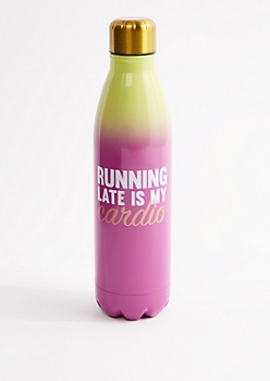 Pink Running Metal Bottle