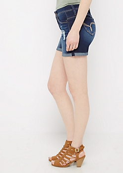 Distressed Better Butt Cuffed Midi Jean Short