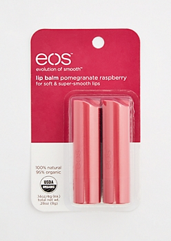 2-Pack Pomegranate Raspberry Lip Balm Set By eos