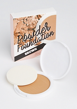 Brown Pressed Powder Foundation