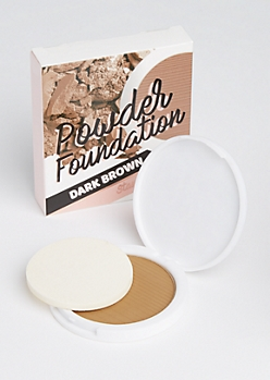 Dark Brown Pressed Powder Foundation