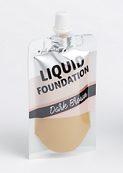Dark Brown Liquid Foundation