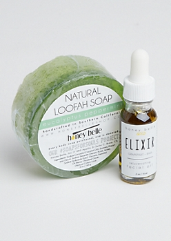 Eucalyptus Loofah Soap & Elixir By Honey Belle