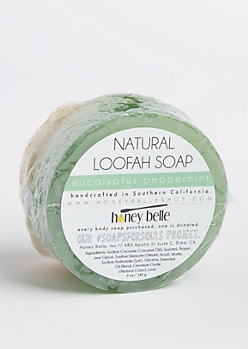 Eucalyptus Peppermint Natural Loofah Soap By Honey Belle