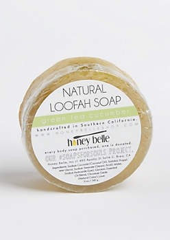 Green Tea Natural Loofah Soap By Honey Belle