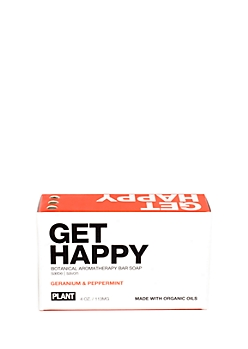 BE HAPPY Organic Soap Bar By Plant Apothecary