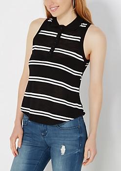 Slim Striped Sleeveless Top