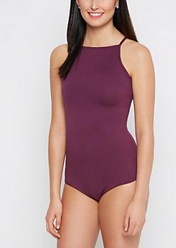 Dark Purple Soft Knit Bodysuit