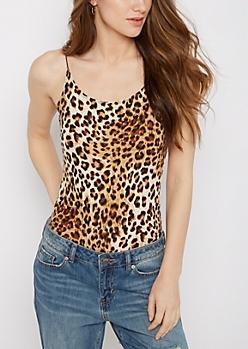 Leopard Elastic Strap Super Soft Bodysuit