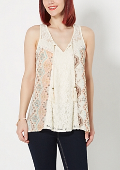 Floral Boho Tank Top by Clover + Scout®