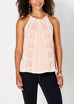 Coral Lace Encounter Tank