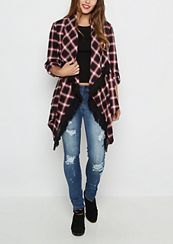 Plaid Fringed Wrap By Sadie Robertson x Wild Blue™