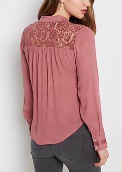 Pink Gauze Shirt By Sadie Robertson X Wild Blue