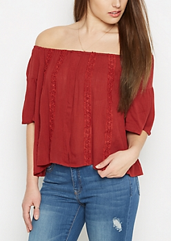 Crochet Daisy Off-Shoulder Top By Sadie Robertson X Wild Blue