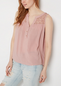 Pink Medallion Tank Top By Sadie Robertson X Wild Blue