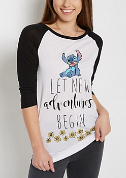 Stitch New Adventures Raglan Tee
