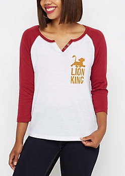 Lion King Baseball Henley