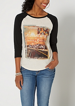 Adventure Is Waiting Raglan Tee