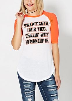No Makeup Raglan Top