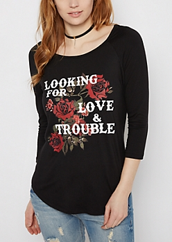 Love and Trouble Brushed Shirttail Tee