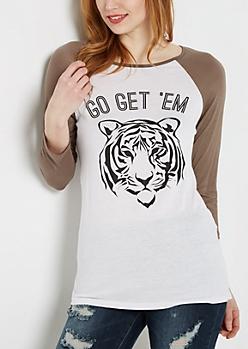 Go Get Em Tiger Raglan Tee