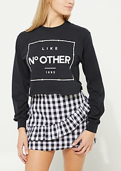 Like No Other Black Crop Tee