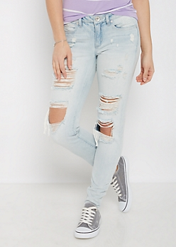 Light Blue Vintage Destroyed Jegging