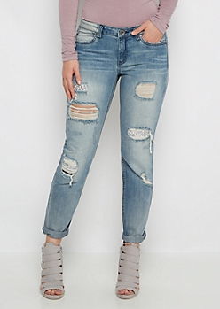 Silver Stone Destroyed Skinny Jean