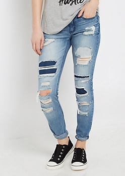 Ripped & Patched Vintage Jegging